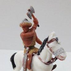 Figuras de Goma y PVC: GUERRERO HUNO PARA CABALLO . JECSAN . HORDAS GUERRERAS . ORIGINAL AÑOS 60 . CABALLO NO INCLUIDO. Lote 269955913
