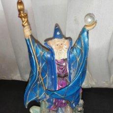 Figuras de Goma y PVC: FIGURA DE RESINA DE MAGO. Lote 269976583