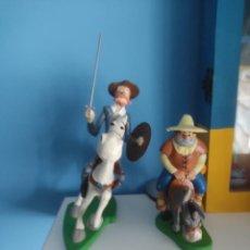 Figuras de Goma y PVC: COMICS SPAIN,DON QUIJOTE Y SANCHO,ROCINANTE Y EL BURRO 4 PIEZAS. Lote 270167238