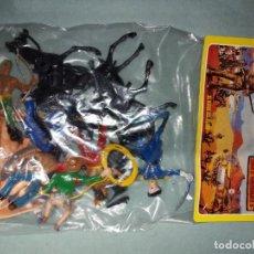 Figuras de Goma y PVC: COMANSI-BLISTER NUEVO-FIGURAS DEL OESTE CABALLOS - AÑOS 70 - DAVID CROCKET. Lote 270225853