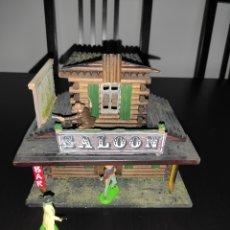 Figuras de Goma y PVC: SALOON SALÓN DEL OESTE MADERA BONITA PIEZA AÑOS 70 ELASTOLIN TUNEADA - SIN FIGURAS. Lote 270569458