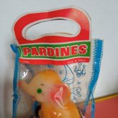 Figuras de Goma y PVC: PEQUEÑO ARRASTRE ELEFANTE DE GOMA LÁTEX PITIDO.PARDINES-ONIL 70S.SIN ABRIR.. Lote 270650633