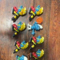 Figuras de Goma y PVC: LOTE DE 8 PITUFOS ANTIGUOS MARCA SCHLEICH. Lote 270921093