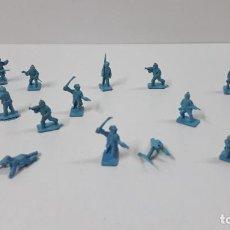 Figuras de Goma y PVC: LOTE DE SOLDADITOS MONTAPLEX . EJERCITOS DEL NORTE . AÑOS 70 / 80. Lote 270938238