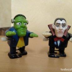 Figuras de Goma y PVC: FIGURITAS JUGUETE PVC HORROR FRANKENSTEIN Y DRÁCULA. Lote 270959188
