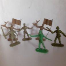 Figuras de Goma y PVC: FIGURAS PLASTICO COMANSI CUBANOS,CHINO,FRANCES PARA PINTAR. Lote 271396823