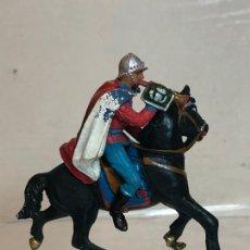 Figuras de Goma y PVC: TROMPETA A CABALLO - ESCOLTA DEL GENERALISIMO, CON CAPA - GOMA, TEIXIDO. Lote 271572193