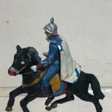 Figuras de Goma y PVC: LANCERO A CABALLO - ESCOLTA DEL GENERALISIMO, CON CAPA - GOMA, TEIXIDO. Lote 271573578