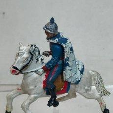 Figuras de Goma y PVC: LANCERO A CABALLO - ESCOLTA DEL GENERALISIMO, CON CAPA - GOMA, TEIXIDO. Lote 271573653