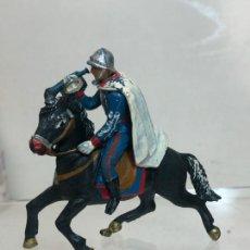 Figuras de Goma y PVC: TROMPETA A CABALLO - ESCOLTA DEL GENERALISIMO, CON CAPA - GOMA, TEIXIDO. Lote 271574248