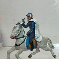 Figuras de Goma y PVC: TROMPETA A CABALLO - ESCOLTA DEL GENERALISIMO, CON CAPA - GOMA, TEIXIDO. Lote 271574333