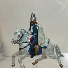 Figuras de Goma y PVC: OFICIAL A CABALLO - ESCOLTA DEL GENERALISIMO, CON CAPA - GOMA, TEIXIDO. Lote 271574473