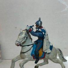 Figuras de Goma y PVC: TROMPETA A CABALLO - ESCOLTA DEL GENERALISIMO, CON CAPA - GOMA, TEIXIDO. Lote 271574768