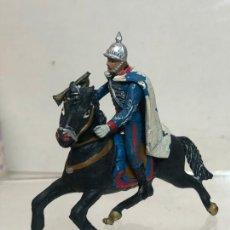 Figuras de Goma y PVC: TROMPETA A CABALLO - ESCOLTA DEL GENERALISIMO, CON CAPA - GOMA, TEIXIDO. Lote 271574928