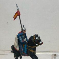 Figuras de Goma y PVC: LANCERO A CABALLO - ESCOLTA DEL GENERALISIMO, CON CAPA - GOMA, TEIXIDO. Lote 271575058