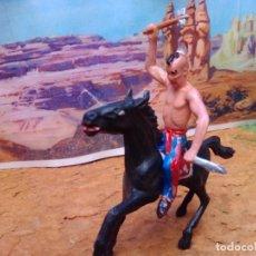 Figuras de Goma y PVC: INDIO Y CABALLO DE COMANSI. Lote 271641823