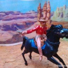 Figuras de Goma y PVC: VAQUERO Y CABALLO DE COMANSI. Lote 271676548
