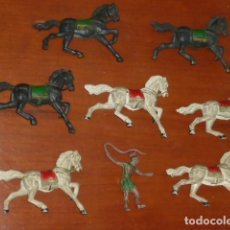 Figuras de Goma y PVC: REAMSA MESSALA CONDUCTOR CUADRIGA EN GOMA Y CABALLOS BEN HUR ROMANOS. Lote 272007993
