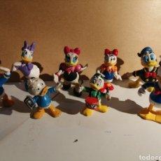 Figuras de Goma y PVC: LOTE FIGURAS PATO DONALD Y FAMILIA. DISNEY. Lote 272012103