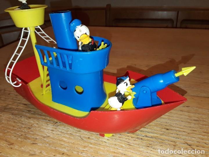 Figuras de Goma y PVC: La Baleniera di Paperino, Walt Disney, P-32 Polistil, años 60. - Foto 4 - 272045348