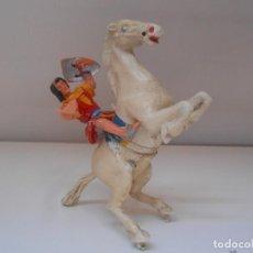 Figuras de Goma y PVC: ESTEREOPLAST FIGURA CAPITAN TRUENO A CABALLO FIGURE GOMA SPAIN ALFREEDOM. Lote 272905848