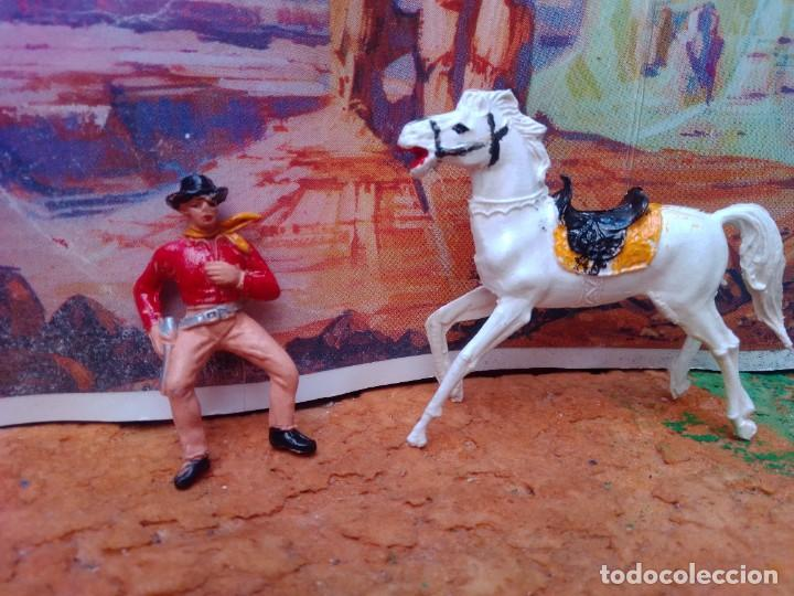 Figuras de Goma y PVC: Vaquero y caballo de jecsan - Foto 2 - 272939598