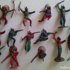 Figuras de Borracha e PVC: LOTE DE INDIOS Y CABALLOS (1) - GAMA. Lote 273083038