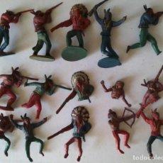 Figuras de Borracha e PVC: LOTE DE INDIOS Y CABALLOS (2) - GAMA. Lote 273083198