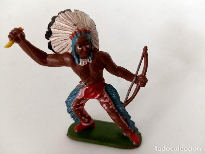 FIGURA INDIO GOMA AÑOS 60 SOTORRES (Juguetes - Figuras de Goma y Pvc - Sotorres)