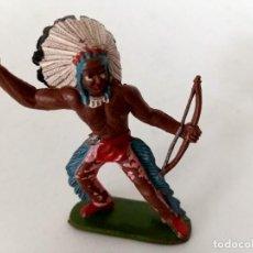 Figuras de Goma y PVC: FIGURA INDIO GOMA AÑOS 60 SOTORRES. Lote 273666923