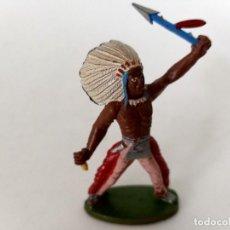 Figuras de Goma y PVC: FIGURA INDIO GOMA AÑOS 60 SOTORRES. Lote 273667058