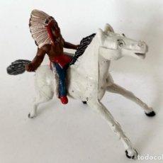 Figuras de Goma y PVC: FIGURA INDIO GOMA AÑOS 60 SOTORRES. Lote 273667173