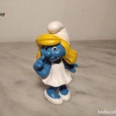 Figuras de Goma y PVC: MUÑECO PITUFINA MARCA SCHLEICH - MADE IN GERMANY - EN GOMA PVC - PITUFO. Lote 274246258