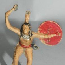 Figuras de Goma y PVC: ANTIGUA FIGURA DE PLASTICO, GUERRERO INDIO REAMSA NUMERO 22.. Lote 274272453