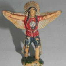 Figuras de Goma y PVC: REAMSA : GUERRERO INDIO REFERENCIA 21 DEL CATALOGO AÑOS 60 PLASTICO ORIGINAL. Lote 274272613