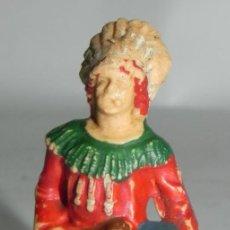 Figuras de Goma y PVC: ANTIGUO INDIO DE PLASTICO CON TAMBOR, REAMSA N. 71, AÑOS 50. MUY RARO.. Lote 274273538