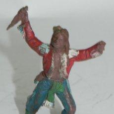 Figuras de Goma y PVC: GUERRERO INDIO. POSIBLEMENTE PECH . AÑOS 50 EN GOMA. Lote 274274068