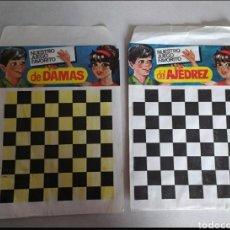Figuras de Goma y PVC: SOBRES VACÍOS MONTAPLEX DAMAS Y AJEDREZ. Lote 274305623