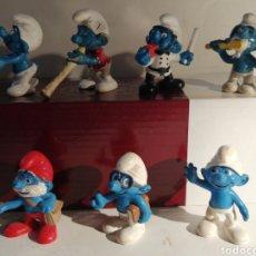 Figuras de Goma y PVC: LOTE DE SIETE PITUFOS PEYO. Lote 274742543