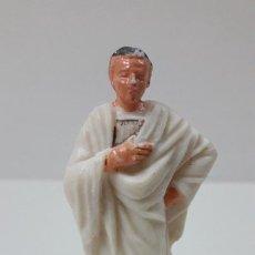 Figuras de Goma y PVC: SENADOR ROMANO . REALIZADO POR JECSAN . SERIE IMPERIO ROMANO . ORIGINAL AÑOS 60. Lote 274853208
