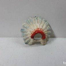 Figuras de Goma y PVC: PENACHO . REALIZADO POR JECSAN . SERIE SAFARI - INDIOS . ORIGINAL AÑOS 50 EN GOMA. Lote 274864968