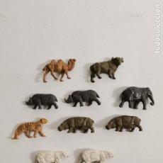 Figuras de Goma y PVC: LOTE DE 10 FIGURAS ANIMALES OMO, FRANCIA. AÑOS 50/60. 100.. Lote 275067673