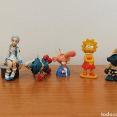 Figuras de Goma y PVC: LOTE FIGURAS (SIMPSON, PITUFO, WERNER, ANIME). Lote 275081058