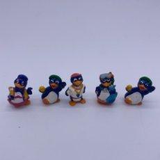 Figuras Kinder: FIGURAS HUEVO KINDER FERRERO - PINGÜINOS. Lote 275118823