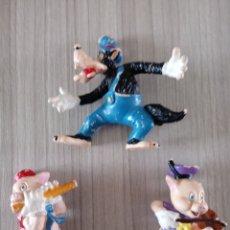 Figuras de Goma y PVC: EL LOBO Y 2 CERDITOS DE DISNEY BULLYLAND. Lote 275225628