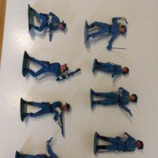 Figure di Gomma e PVC: LOTE DE FEDERALES JECSAN DE LA SERIE RINTINTIN RIN TIN TIN NO REAMSA PECH COMANSI. Lote 275301698