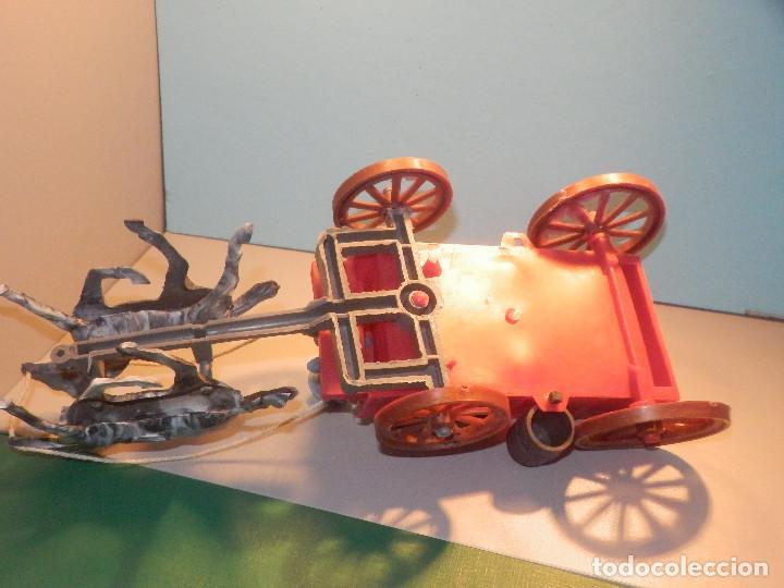 Figuras de Goma y PVC: Bonito Carro, Carromato ó carreta en plástico - Oeste - 2 Caballos - C/ accesorios muy completa - Foto 11 - 275479623