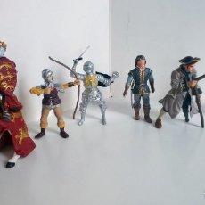Figuras de Goma y PVC: LOTE DE FIGURAS PVC CABALLEROS, PIRATAS, SCHLEICH, PAPO, PLASTOY. Lote 275479748