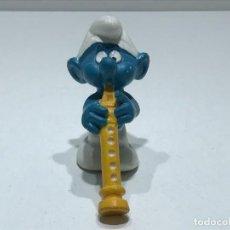Figuras de Goma y PVC: PITUFO FLAUTISTA - MARCA BULLY PEYO - AÑOS 70/80. Lote 275581263