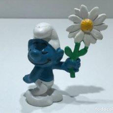 Figuras de Goma y PVC: PITUFO ROMANTICO - MARCA BULLY PEYO - AÑOS 70/80. Lote 275581738